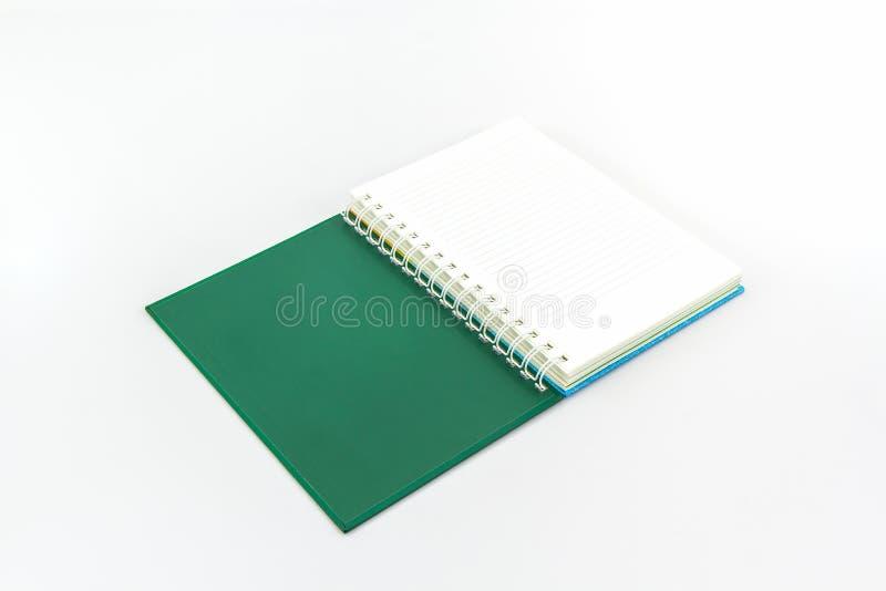 Open groen boek royalty-vrije stock foto