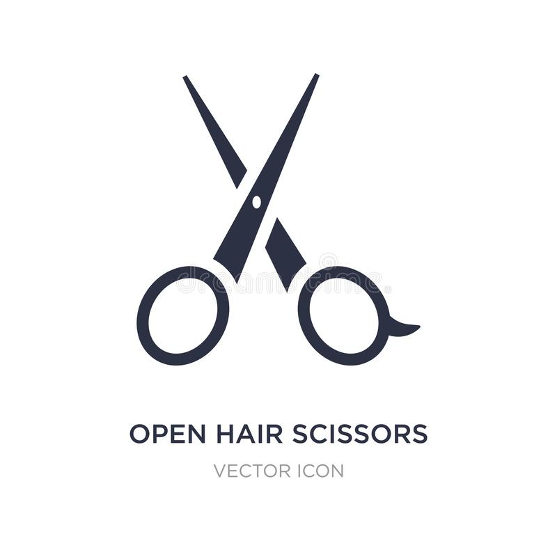 open hair scissors icon on white background. Simple element illustration from Beauty concept vector illustration