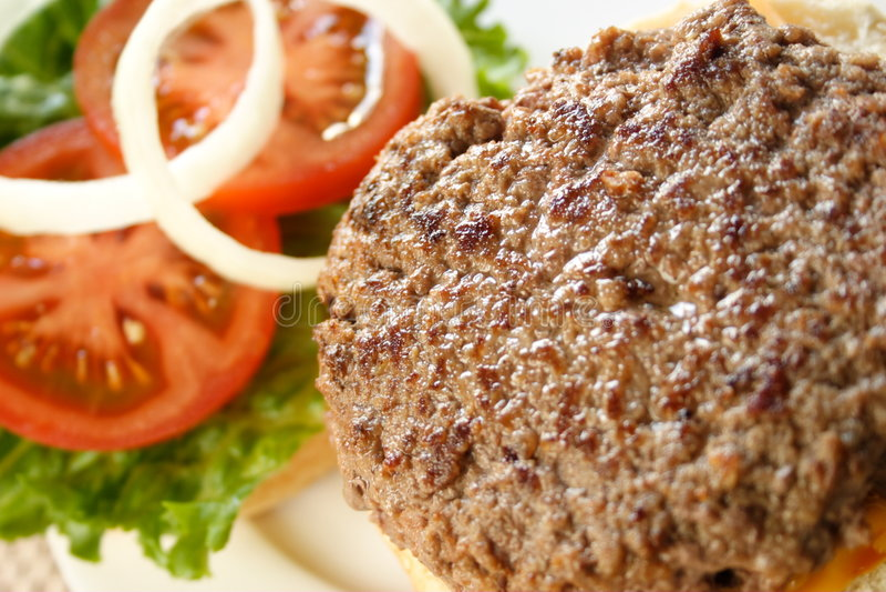 Open Hamburger stock foto's