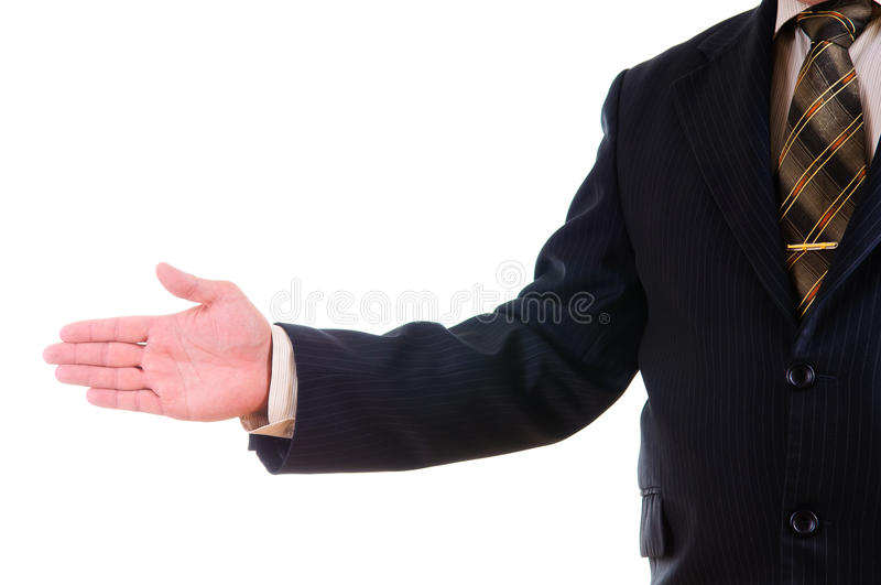 Download An open hand stock photo. Image of formal, businessman - 26418694