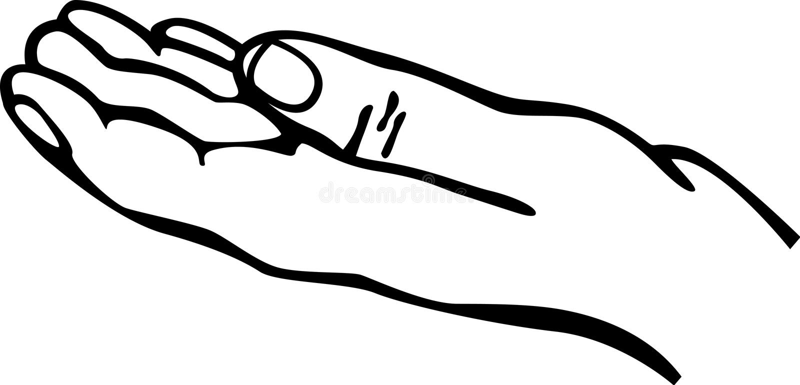 Open hand royalty-vrije illustratie