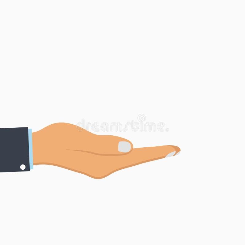 Open Hand Lege menselijke palm Vector vector illustratie