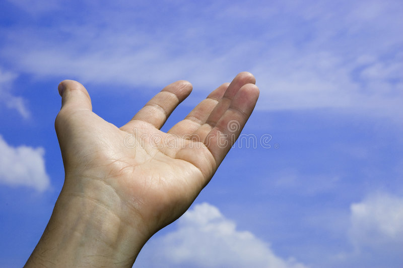 Open Hand In The Sky Stock Photos