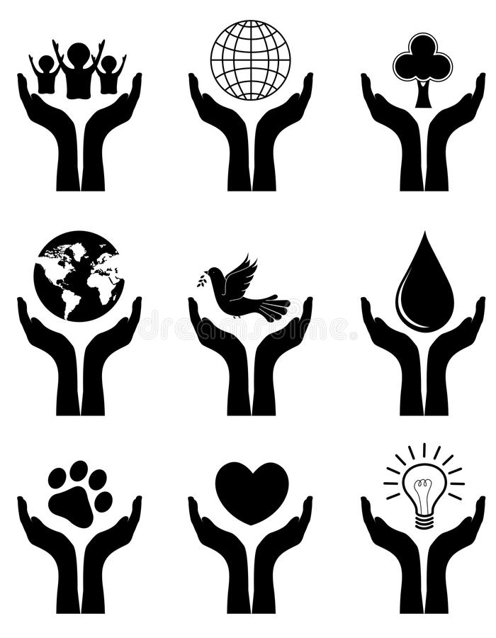 Download Open hands stock vector. Image of five, collection, concept - 24222992