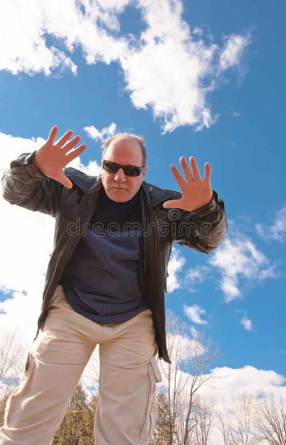 Open Hands In The Blue Sky stock image