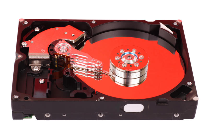 Download Open Hard Disk Drive stock photo. Image of system, technology - 12360900