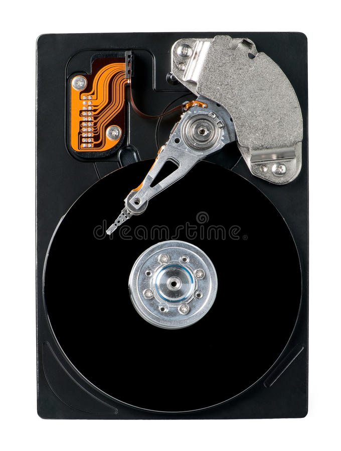 Download Open Hard Drive stock photo. Image of isolated, disc - 11296880