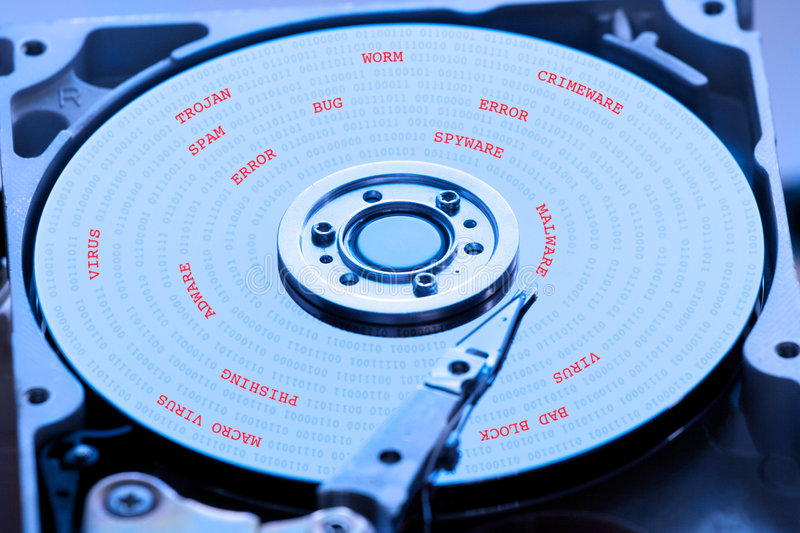 Open hard drive. For data recovery or repair royalty free stock image