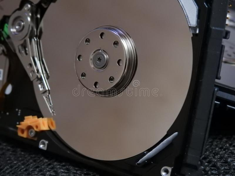 Open hard drive royalty free stock photos