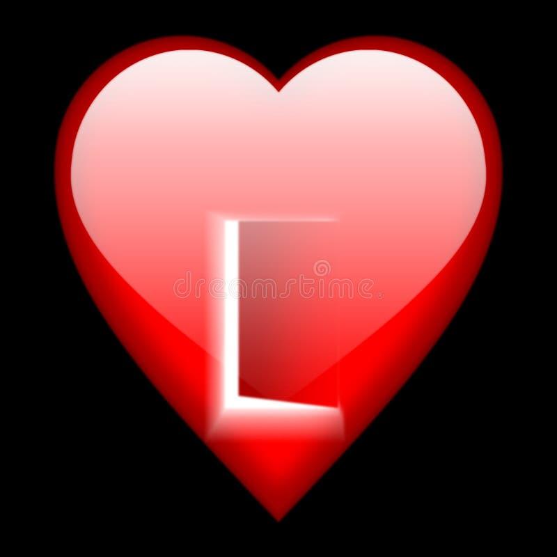 Open hart vector illustratie