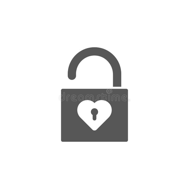 Icon Lock Open Stock Vector. Illustration Of Shape, System