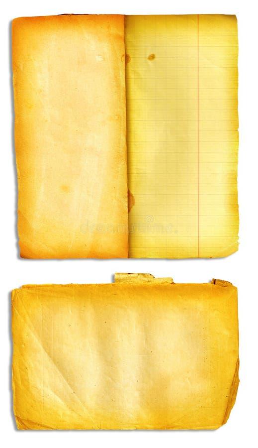 Open het boekpagina's van Grunge vector illustratie