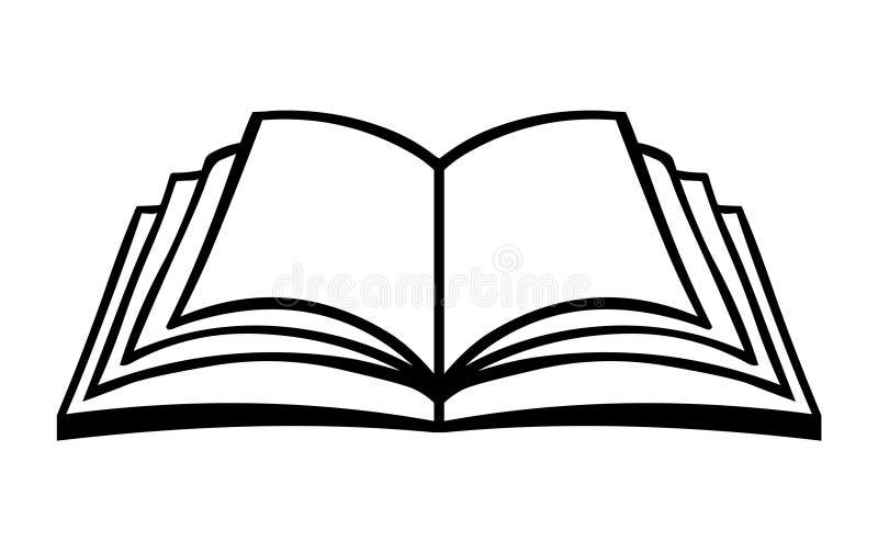 Open het embleemvector van het boekpictogram Het embleem van het onderwijspictogram stock illustratie