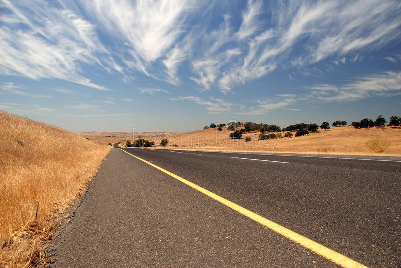 Download Open Highway stock photo. Image of hills, cloudscape, road - 7077568