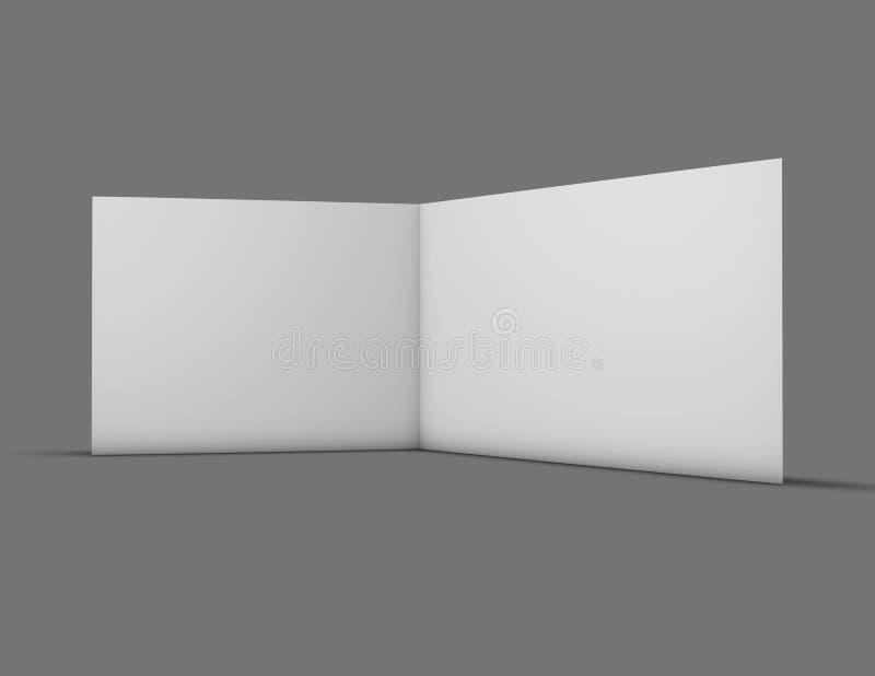 Open horizontale de kaartspot van de groetuitnodiging omhoog met blanco pagina's vector illustratie