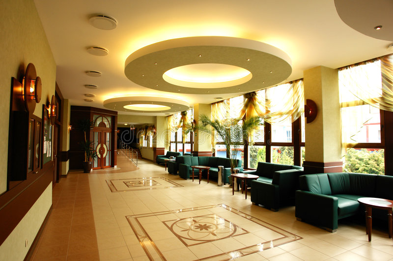 Open hotel reception area stock image. Image of modern ...