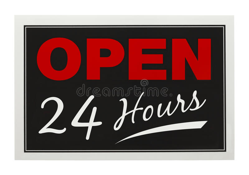 Open 24 Hours royalty free stock photography