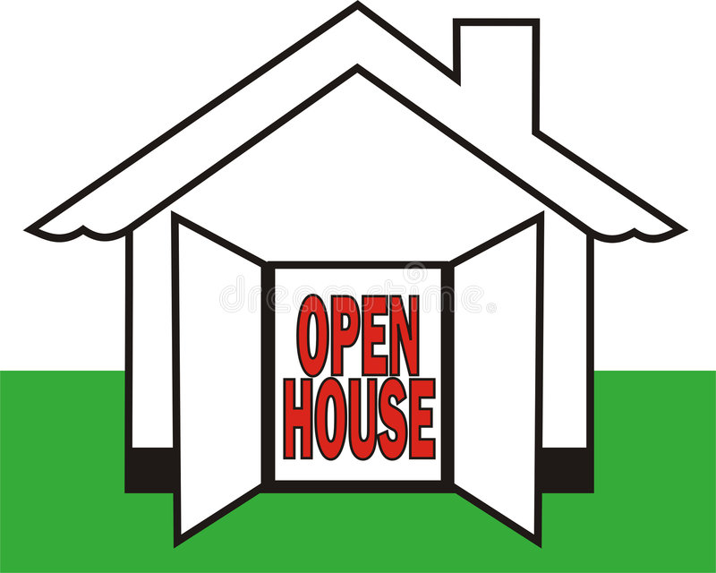 Open House stock image