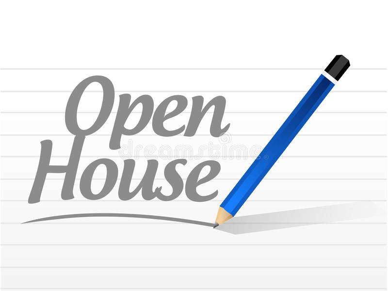 open house message sign illustration vector illustration