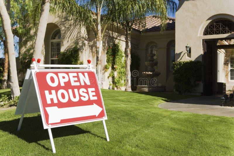Open House Sign royalty free stock photos