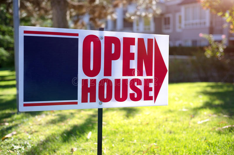 Open house sign stock images