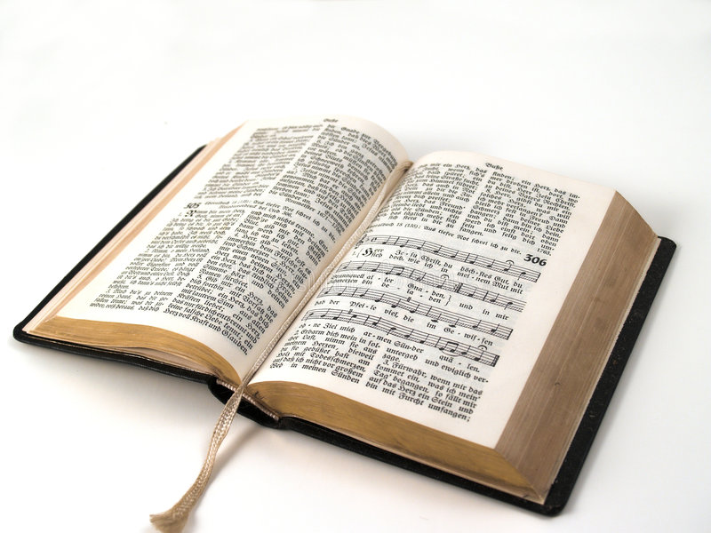 Open hymnbook royalty free stock photos