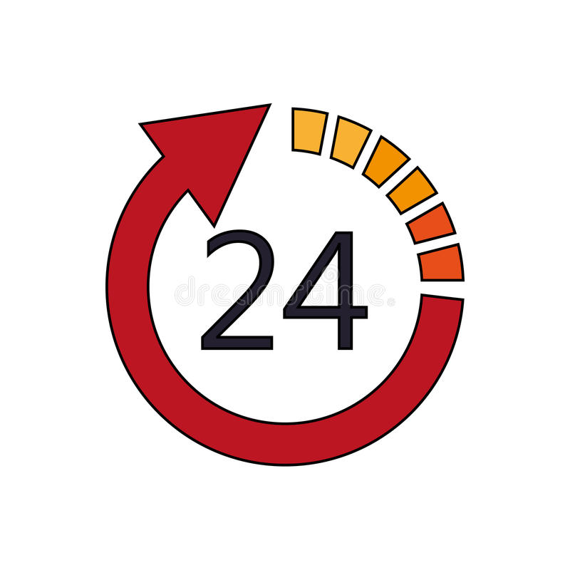 Open 24 7 icon image. Illustration design stock photos
