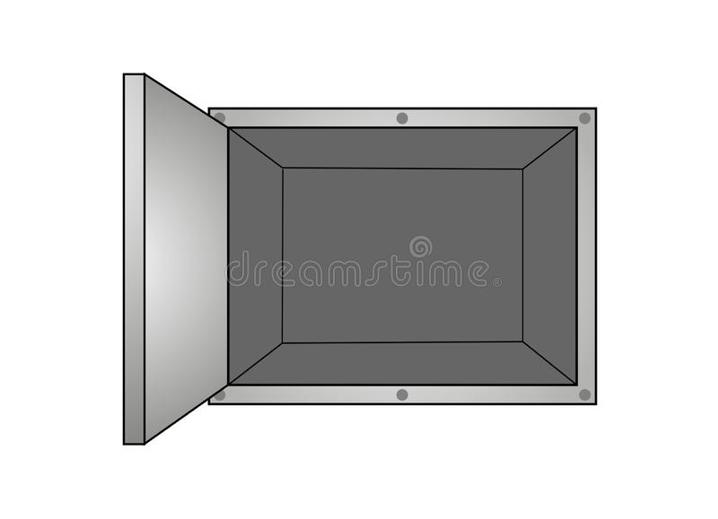 Open ijzerdoos vector illustratie
