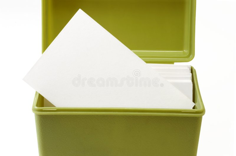Open index card file box 2 royalty free stock photos