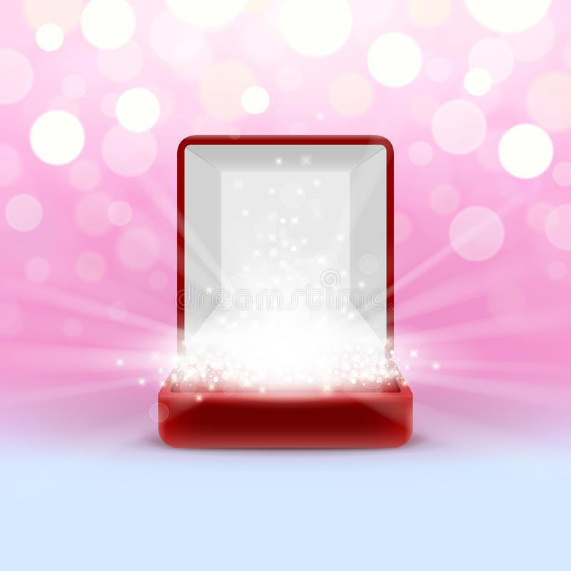 Free Open Jewelry Box With Glowing From Inside Royalty Free Stock Photos - 99592008