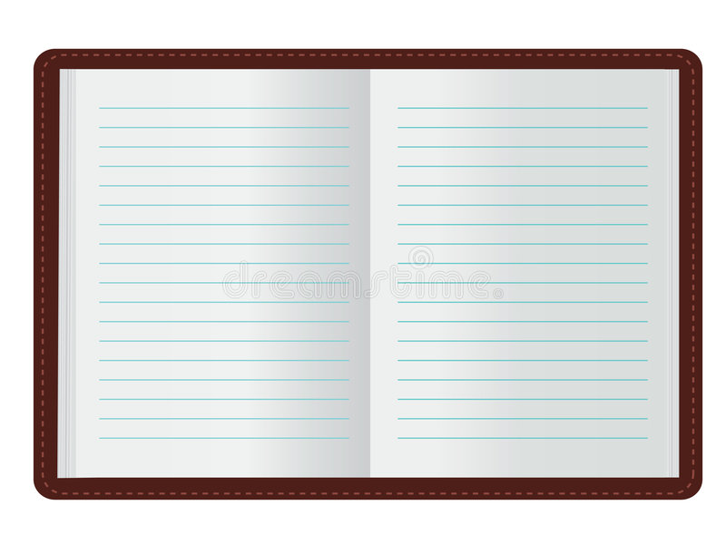Download Open Journal stock vector. Image of scrapbooking, illustration - 7996984