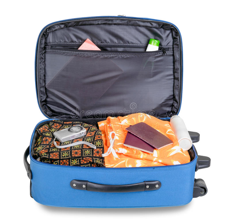 Open Koffer royalty-vrije stock fotografie