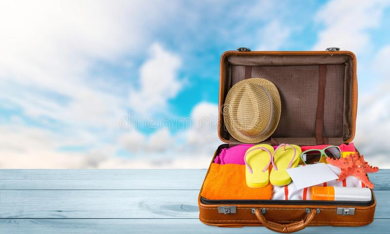 Open koffer royalty-vrije stock foto's