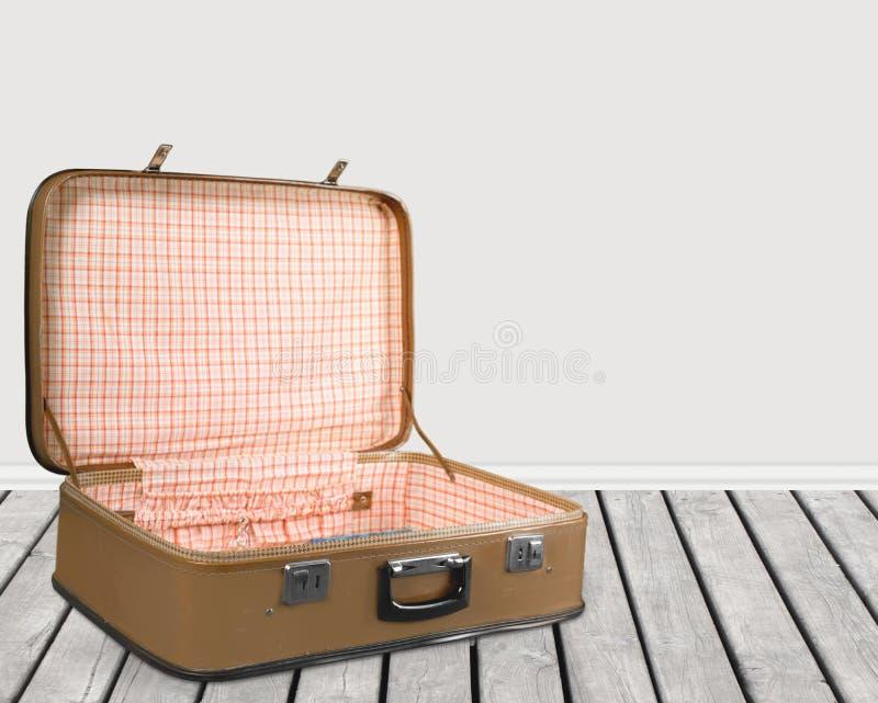 Open koffer stock foto's