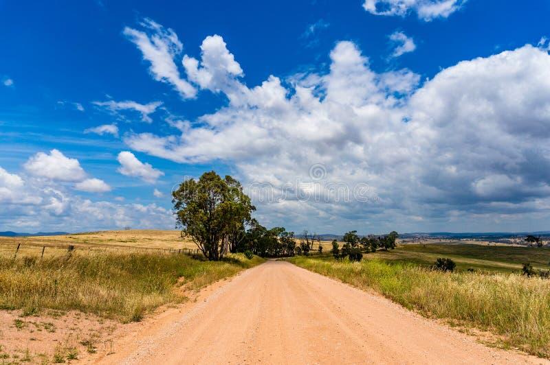 Open landelijke landweg stock foto