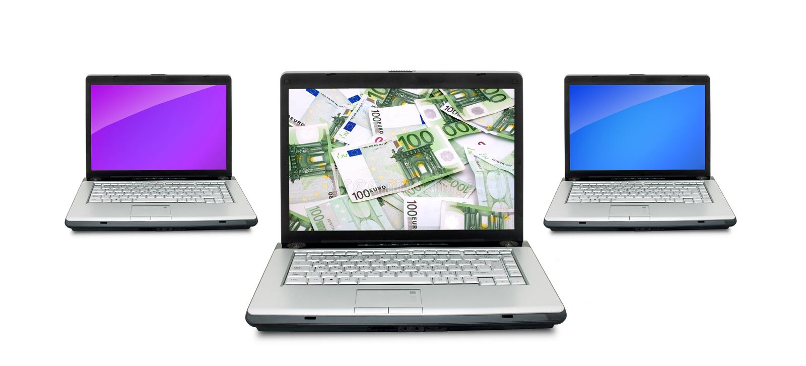 Download Open laptop stock photo. Image of loan, computer, internet - 12377384
