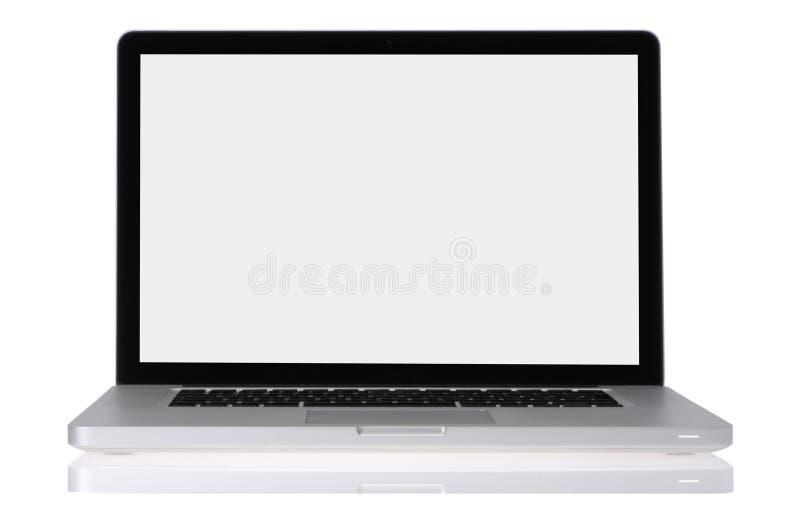 Open laptop computer stock photos