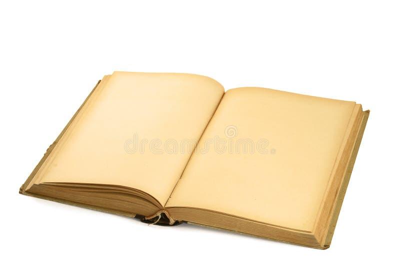 Open leeg boek op wit royalty-vrije stock afbeeldingen
