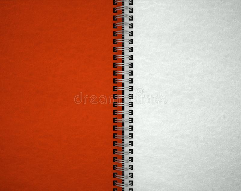 Open leeg notitieboekje, document textuur stock afbeeldingen