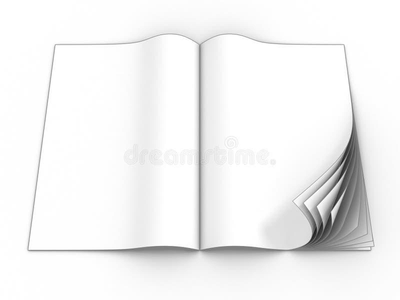 Open leeg tijdschrift royalty-vrije illustratie