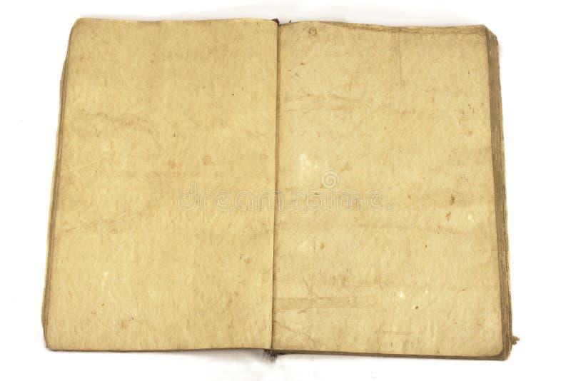 Open leeg traditioneel uitstekend boek stock foto