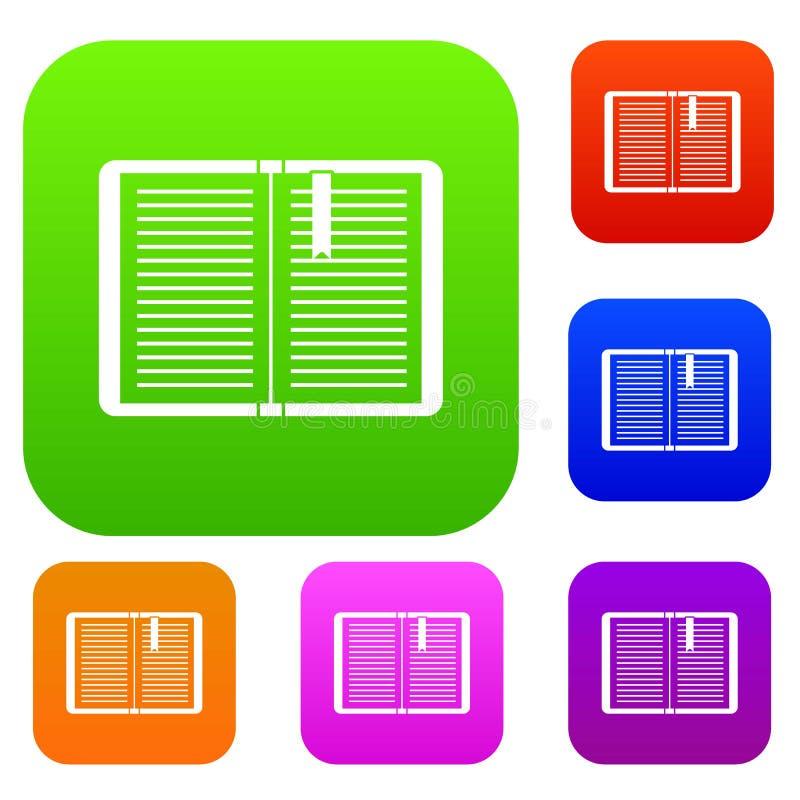 Open leerprogramma met referentie vastgestelde inzameling vector illustratie