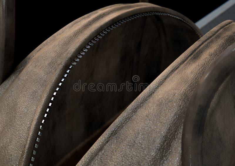 Open Lege Bruine Duffel Zak stock illustratie