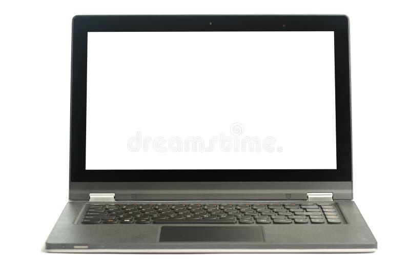Open lege laptop stock afbeelding