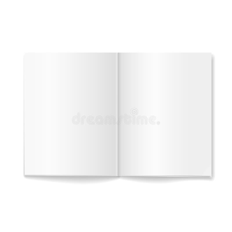 Open lege uitgespreide tijdschrift dubbel-pagina stock illustratie
