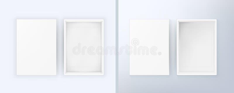 Open Lege Witte Doos met Zacht en Zijlicht vector illustratie