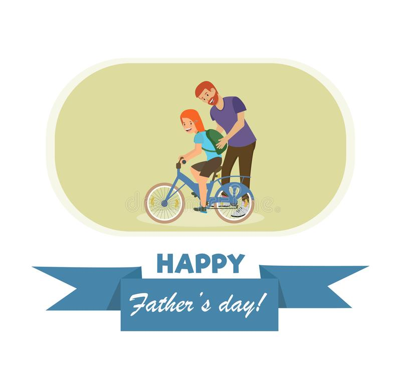Open Letter with an Inscription Happy Fathers Day. royalty free illustration