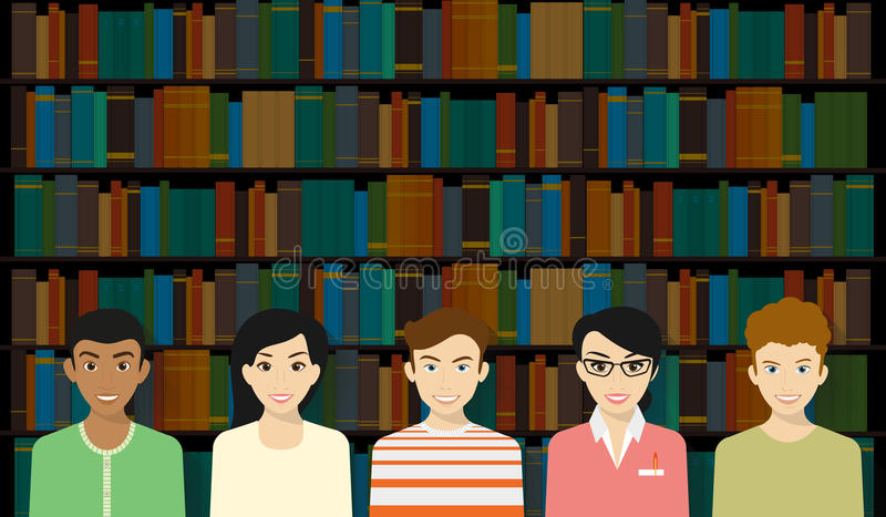 Open library stock illustration