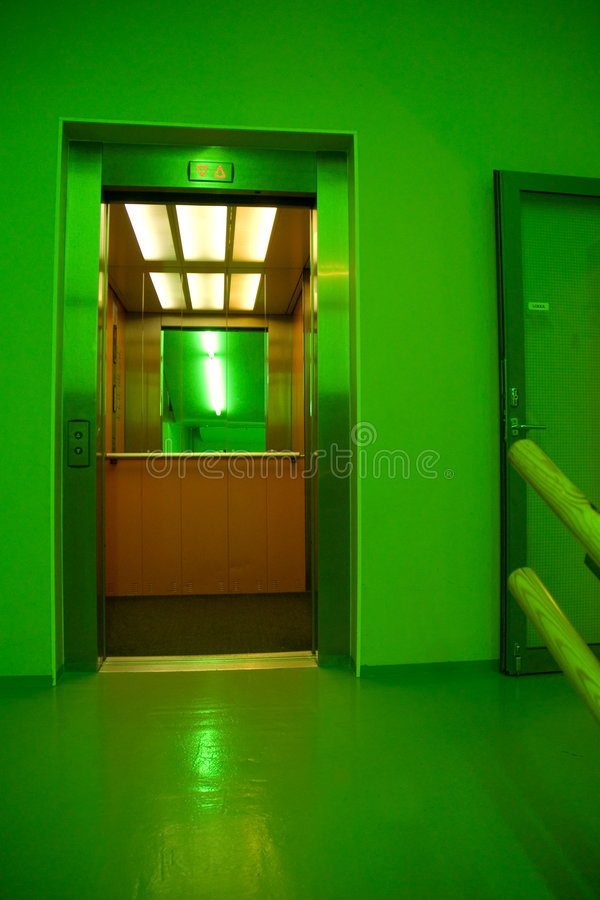 Open lift stock foto