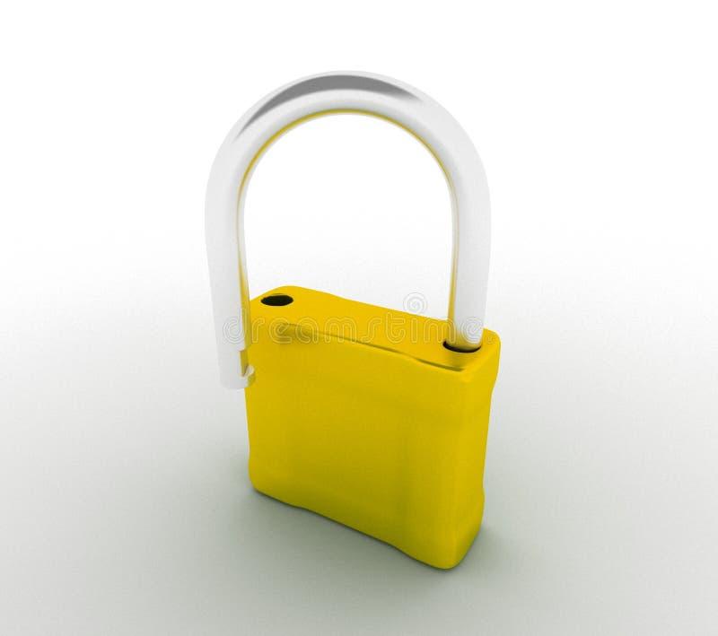 Download Open lock stock illustration. Image of unfasten, crack - 14885602